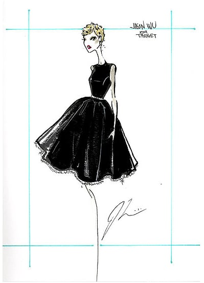 A sketch from Wu's collection for Target.