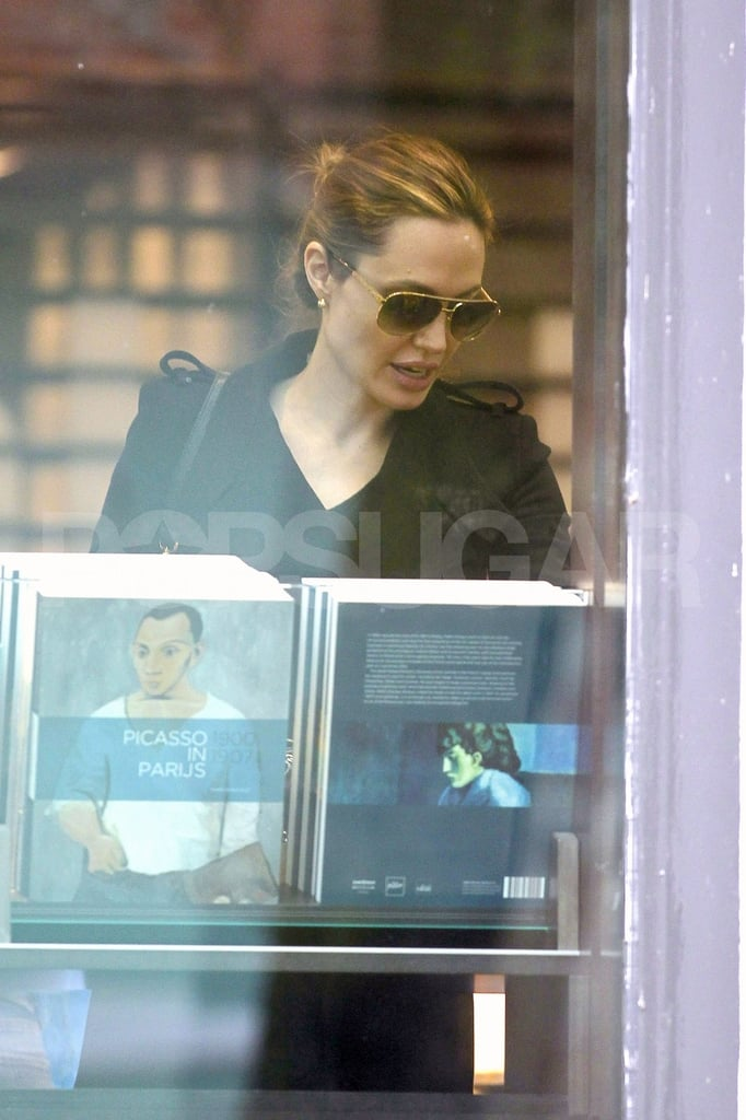 Angelina Jolie shopped for books.