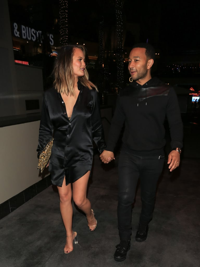 Her LBD Also Coordinated With Her Husband John Legend's Outfit