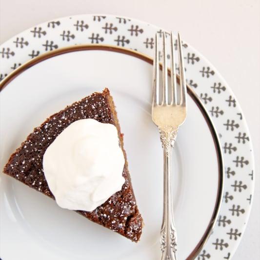 Cranberry-Swirled Gingerbread Cake