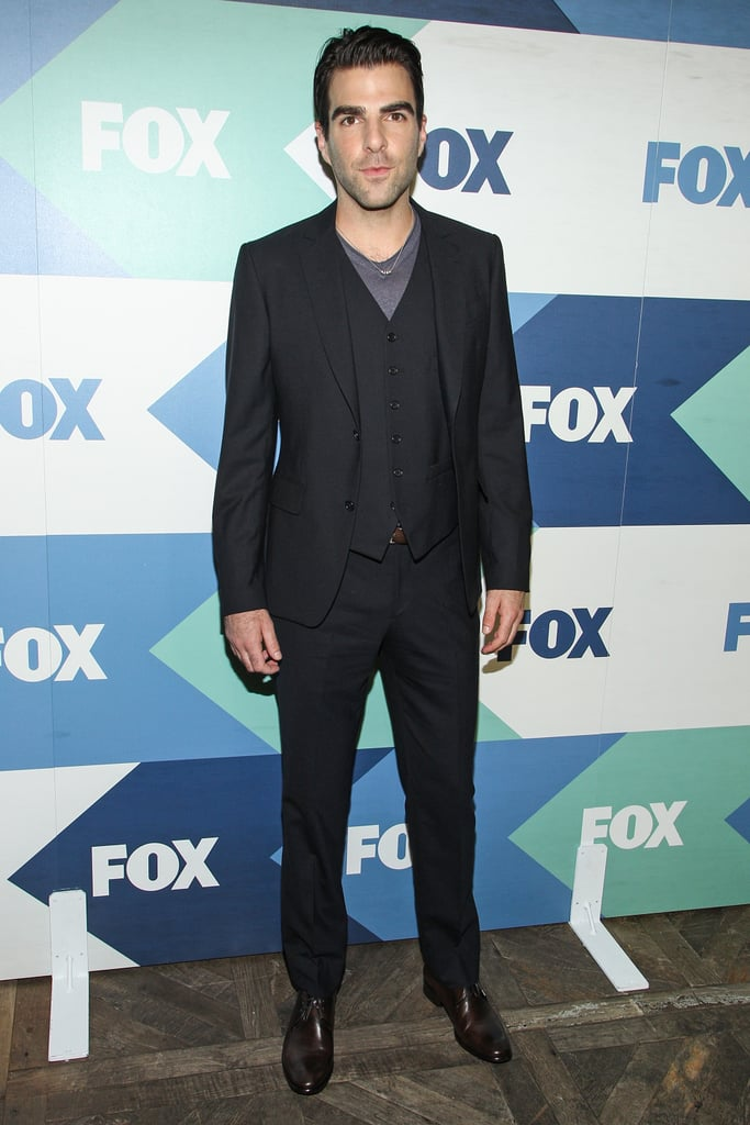 Zachary Quinto was one of many stars at the Fox All-Star Party in LA.
