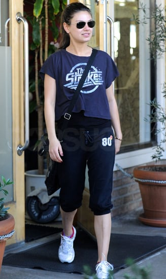 Pictures of Mila Kunis Going to the Gym and a Nylon Party in LA