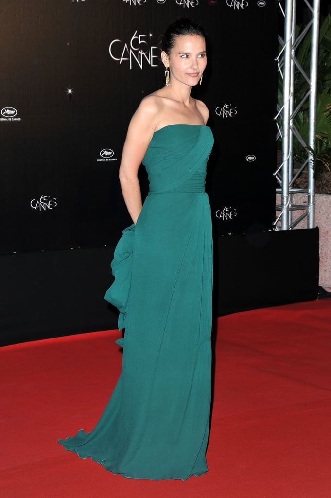 Virginie Ledoyen posed in a green frock at the Cannes Film Festival opening night dinner.
