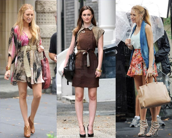 Pictures of Blake Lively and Leighton Meester Filming Gossip Girl in NYC 2010-07-15 15:00:00