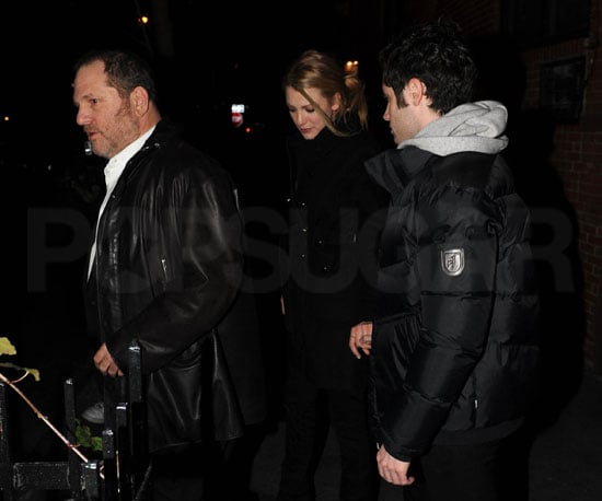 Photo of Blake Lively and Penn Badgley Leaving the Waverly Inn