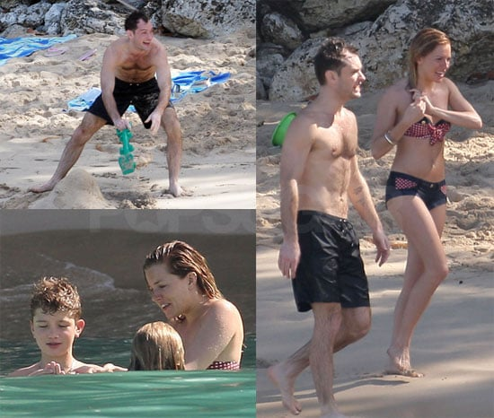 Photos of Sienna Miller During Her Bikini Vacation in Barbados With Shirtless Jude Law