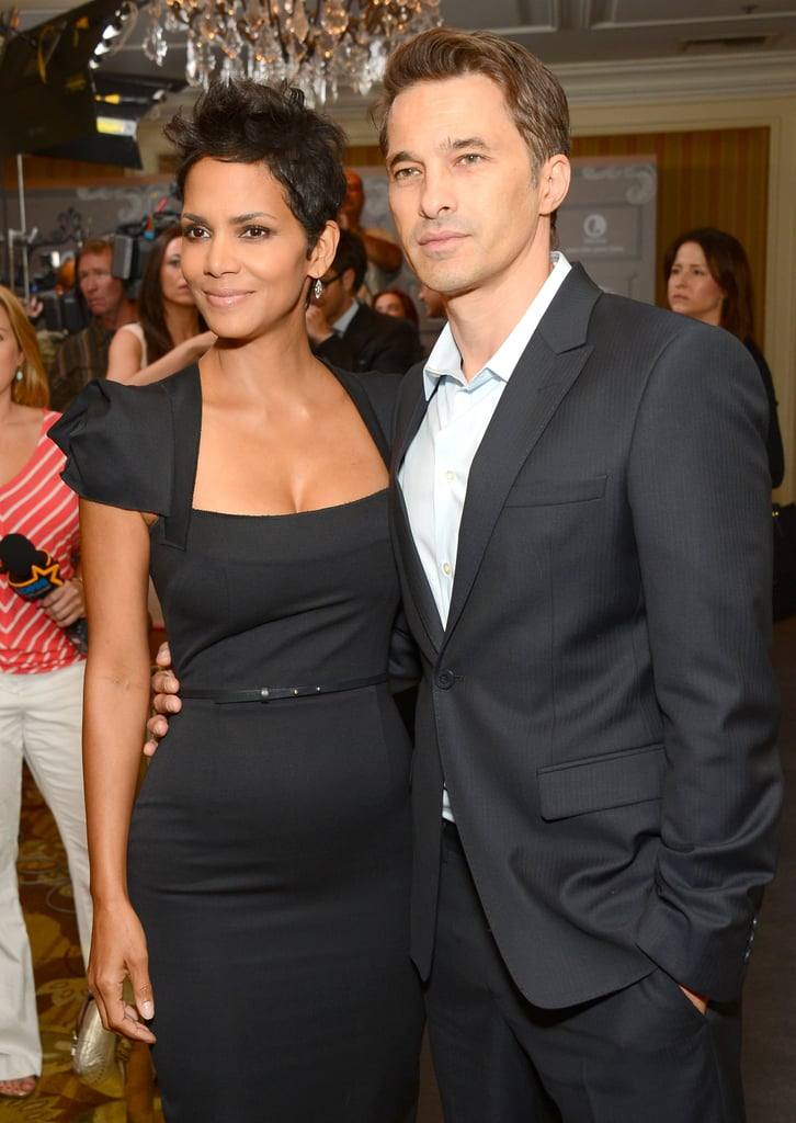 Halle Berry and Olivier Martinez stayed together inside the party.