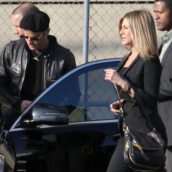 Jennifer Aniston and Justin Theroux Pictures at Jimmy Kimmel