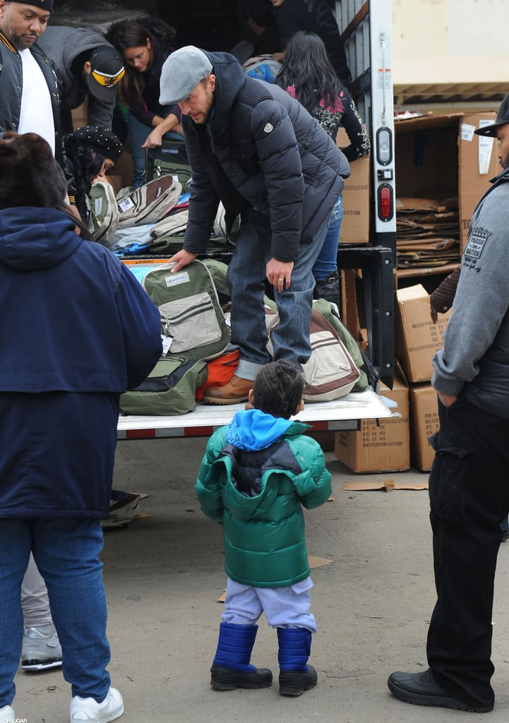 Justin Timberlake volunteered to help victims of Hurricane Sandy.