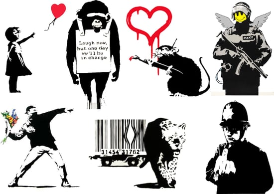 Get New Banksy Art Temporary Tattoos
