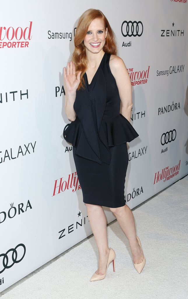 Jessica Chastain celebrated her Oscars nod at The Hollywood Reporter Nominees Night at Spago in Beverly Hills on Feb 4.