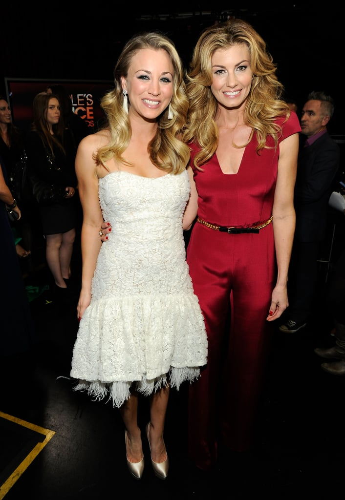 Kaley Cuoco and Faith Hill