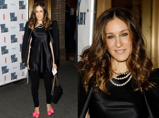 Sarah Jessica Parker style Tuxedo, Bright Pink Shoes