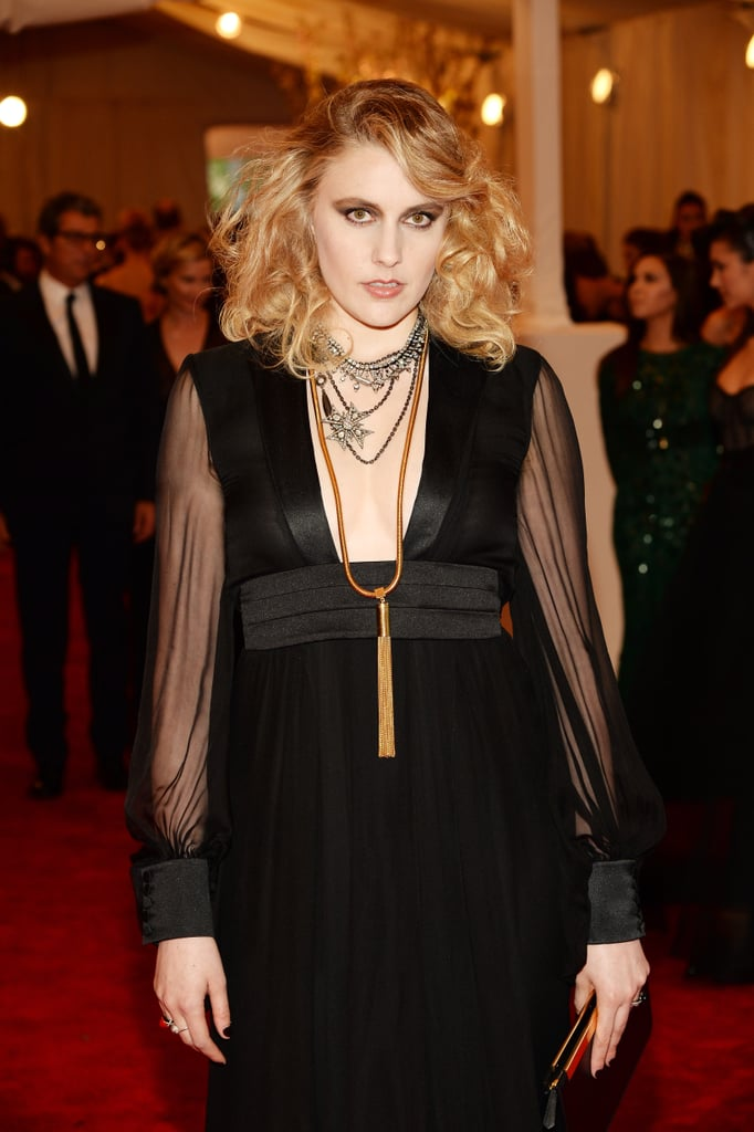 Greta Gerwig's layered Fred Leighton necklaces added just enough glitz.