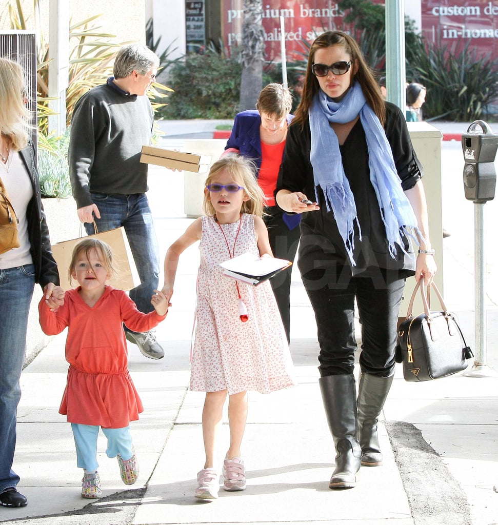 Jennifer Garner with Seraphina and Violet Affleck in LA.