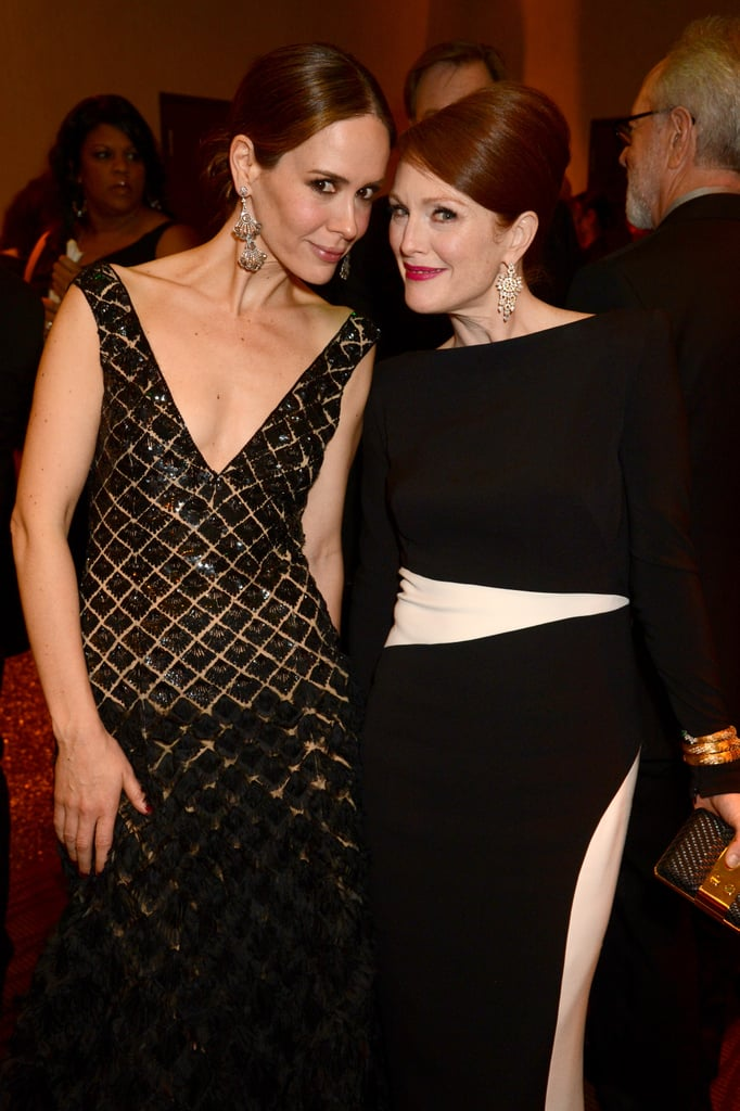 Sarah Paulson and Julianne Moore posed together at HBO's bash.