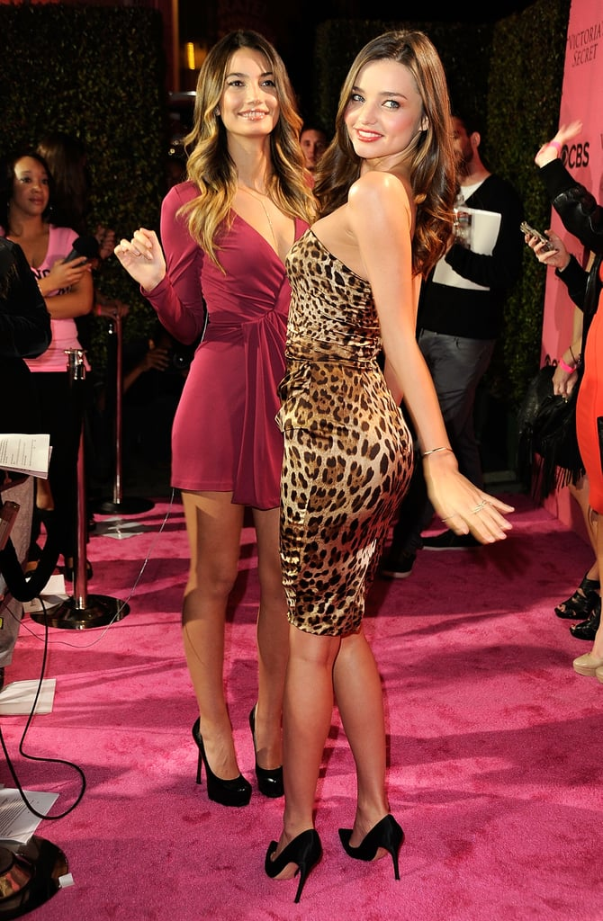 Miranda Kerr and Lily Aldridge hung out together in Cosa Mesa.