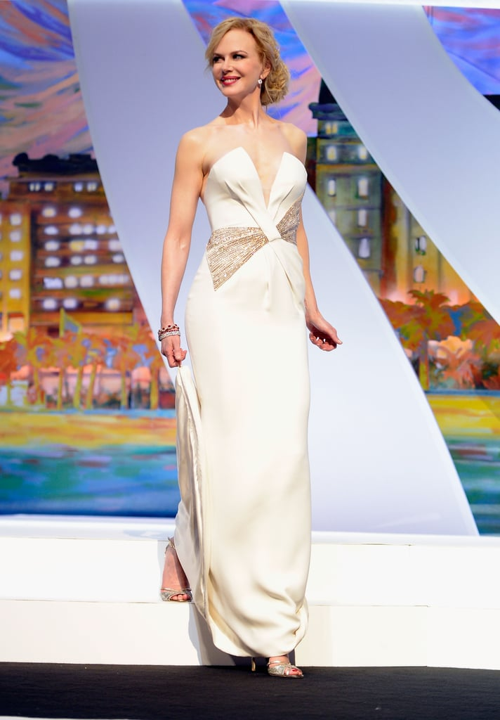 Nicole Kidman walked on stage at the Cannes Film Festival award ceremony on Sunday.