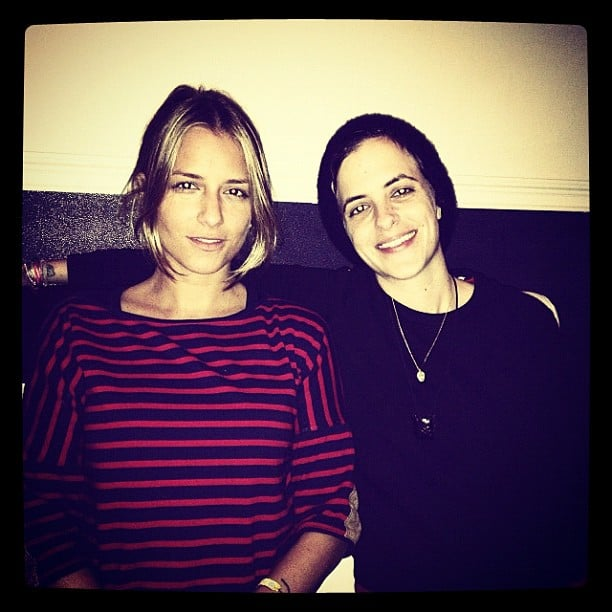 Charlotte Ronson spent some quality time with her twin sister, Samantha. Source: Instagram user cjronson