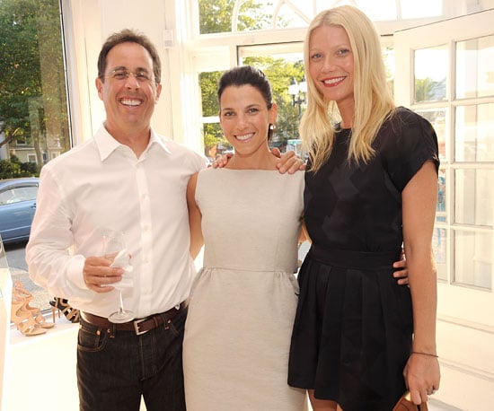 Slide Picture of Gwyneth Paltrow with Jerry and Jessica Seinfeld at Shopping Event