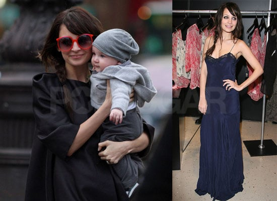Photos of Nicole Richie Wearing a Floor Length Blue Dress With Sparrow Madden in Paris