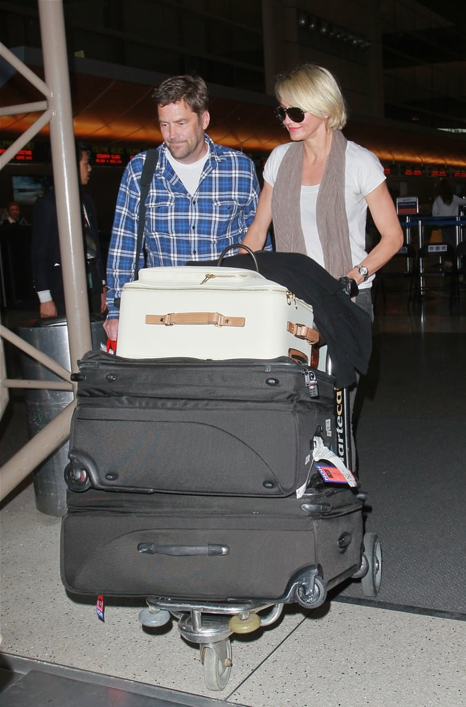 Cameron Diaz had a friend with her at LAX.