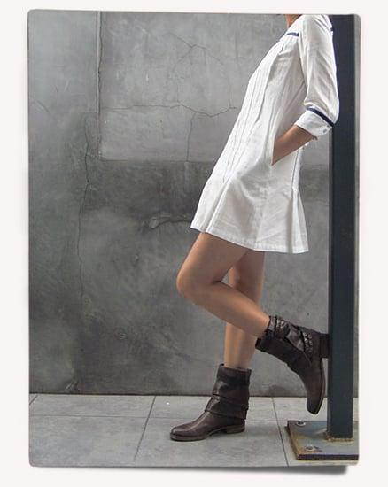 XS Look: Rag & Bone Pleated Mini-Dress