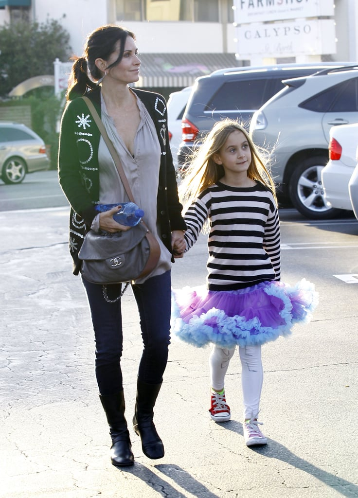 Courteney Cox and Coco Arquette strolled.