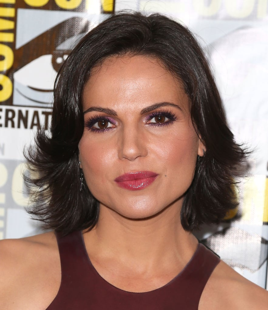We loved Lana Parrilla's berry lipstick while on the press line for Once Upon a Time.