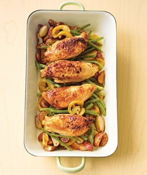 Recipe For Roasted Chicken With Green Beans
