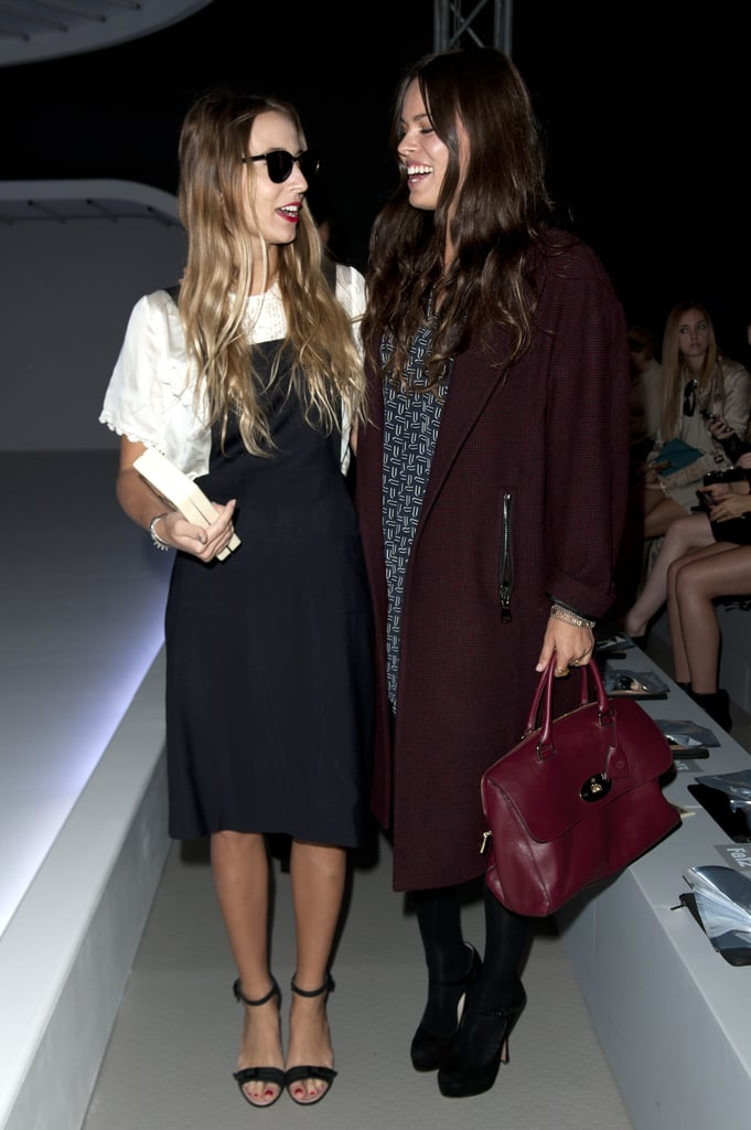 Harley Viera-Newton and Atlanta de Cadenet joined forces in their respectively styled ensembles preshow at Unique.