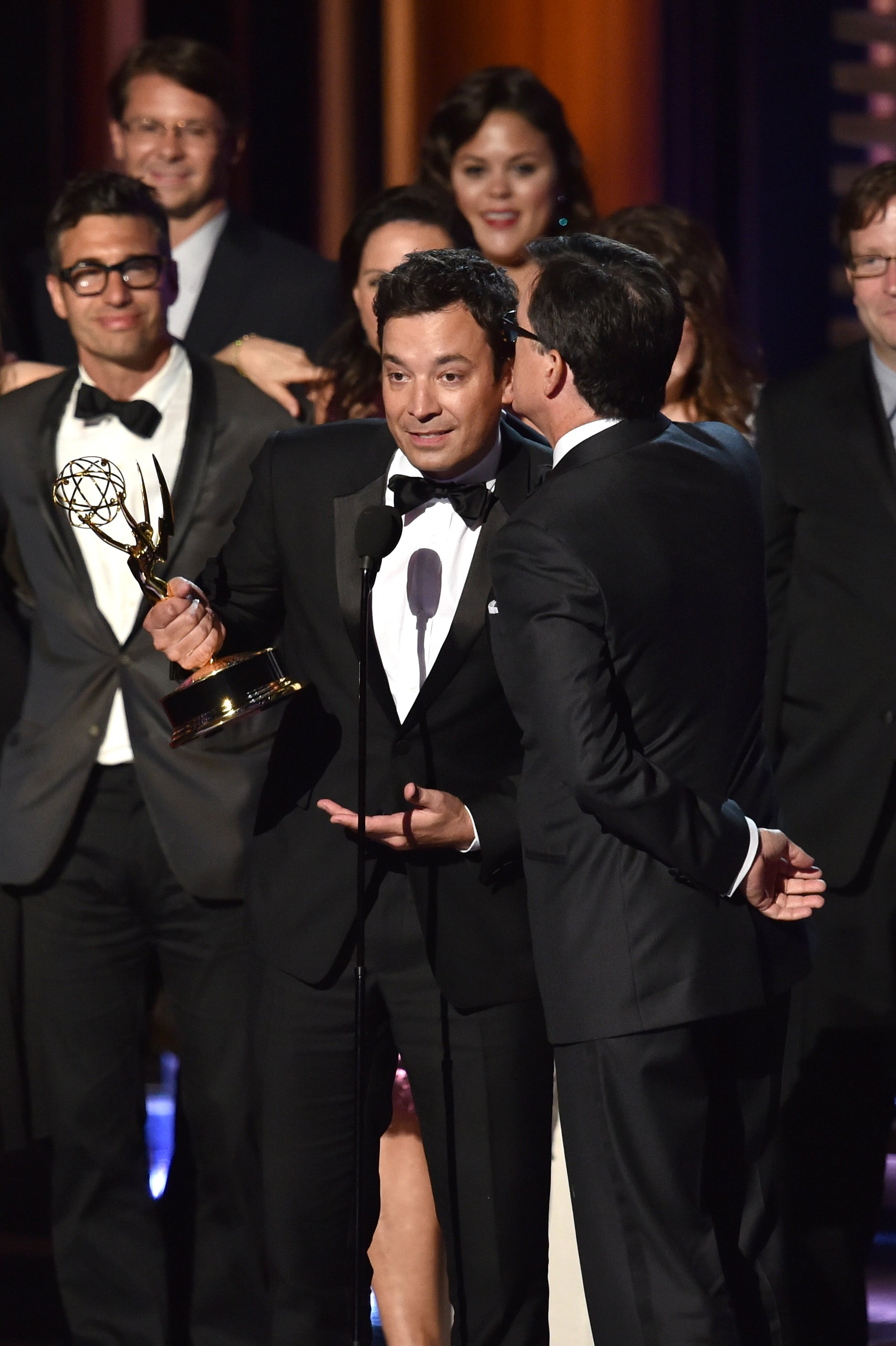 Jimmy Fallon tried to steal Stephen Colbert's Emmy.