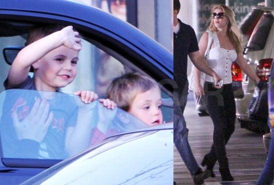 Photos of Britney Spears, Sean Preston Spears Federline, Jayden James Spears Federline, and Lynne Spears Together in LA