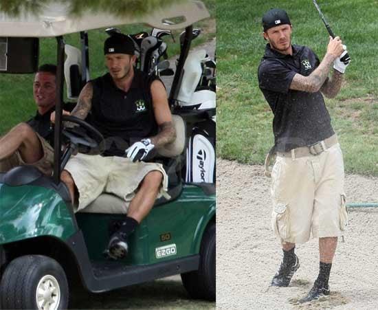Photos of David Beckham Playing Golf