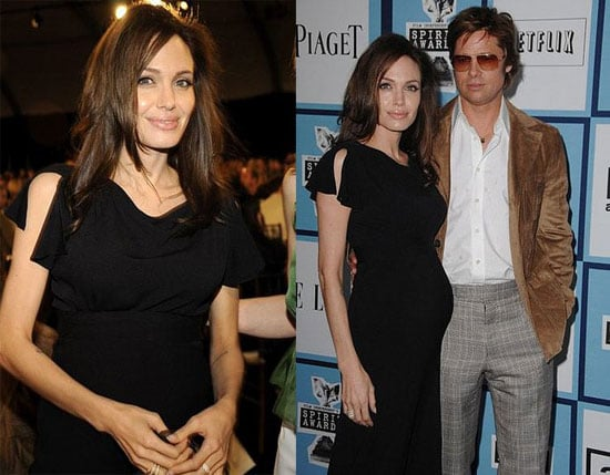 Angelina Jolie Pregnant at the Independent Spirit Awards