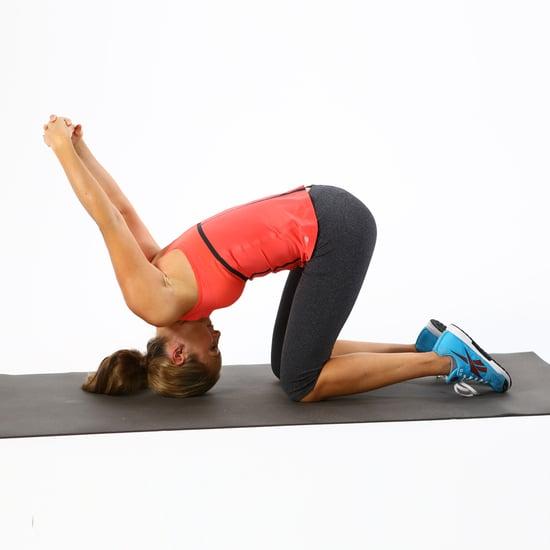 Neck, Back, Chest Stretch: Kneeling Tipover Tuck