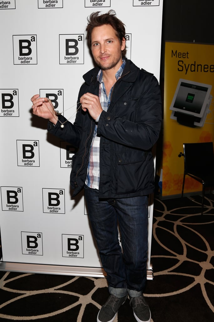 Peter Facinelli posed solo at Kari Feinstein's pre-Oscars event in LA on Thursday night.