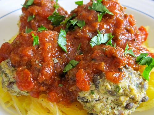 "Spaghetti Squash and ""Meatballs"""