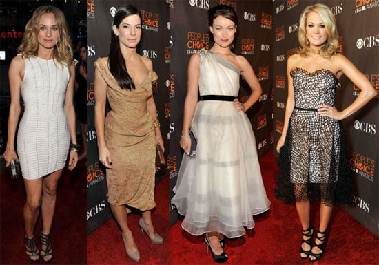 Photos from the red carpet of the 2010 People's Choice Awards