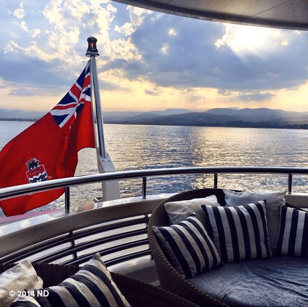 Nina Dobrev hopped on a yacht with friends.  Source: Instagram user ninadobrev
