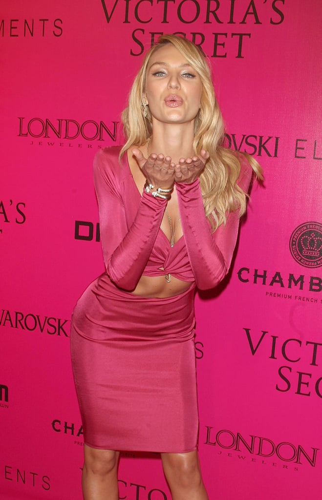 Candice Swanepoel's dress exposed her rock-hard abs.