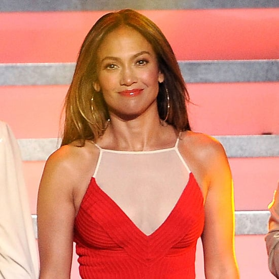Jennifer Lopez in a Red Dress at American idol Pictures