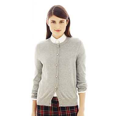 Joe Fresh's jewel-neck cardigan ($29) adds just the right amount of glitz to your work ensembles.