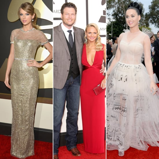 Celebrities on the Grammys Red Carpet 2014