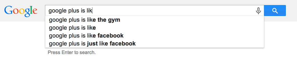 Google Plus Is Like . . .