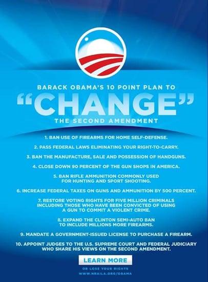 NRA Aims False Claims at Barack Obama