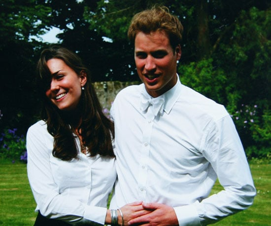A young Kate and William were photographed together at St. Andrews in June 2005.