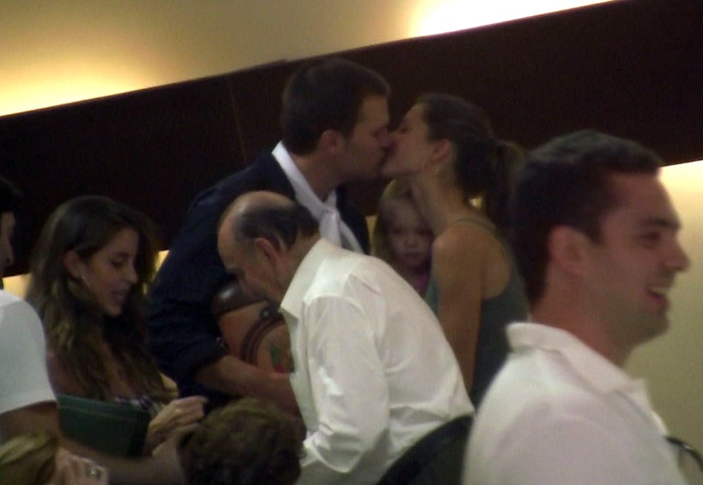 And showed some PDA while hanging out with Gisele's family in Brazil in March 2009.