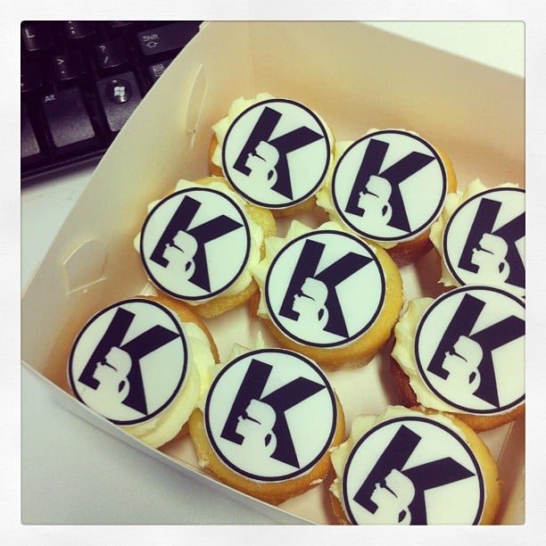 Kute! These v. special Karl Lagerfeld cupcakes were delivered to a very happy Kate Waterhouse. Source: Instagram user katewaterhouse7
