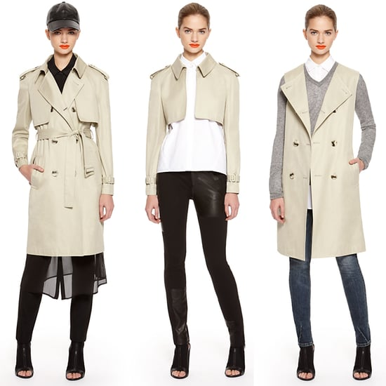 DKNY Convertible Trench Coat